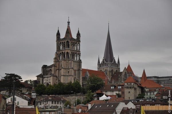 Вид на Кафедральный собор Лозанны. Но мы к нему вернёмся позже
