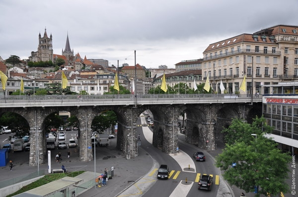 Большой мост (Grand Pont) через реку Флон, построенный в 1844 году