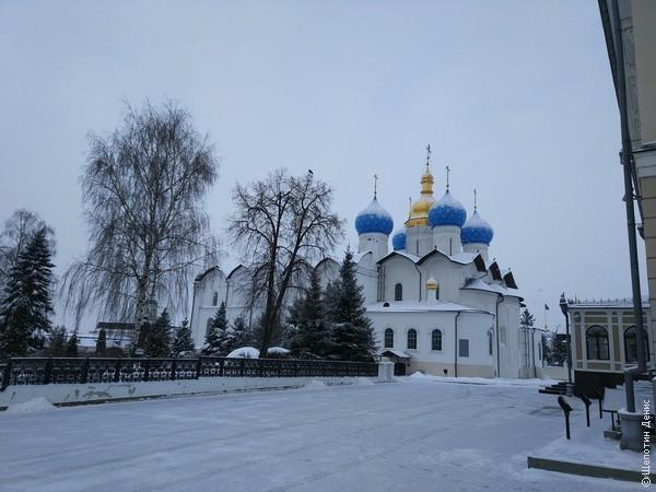 Казанский кремль. Вид на Благовещенский собор