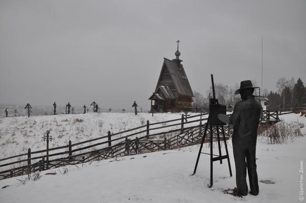 Гора Левитана. С памятником художнику и репликой церкви, послужившей прототипом церкви с картины «Над вечным покоем»