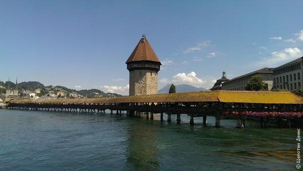 Люцерн знаменит своими деревянными крытыми мостами